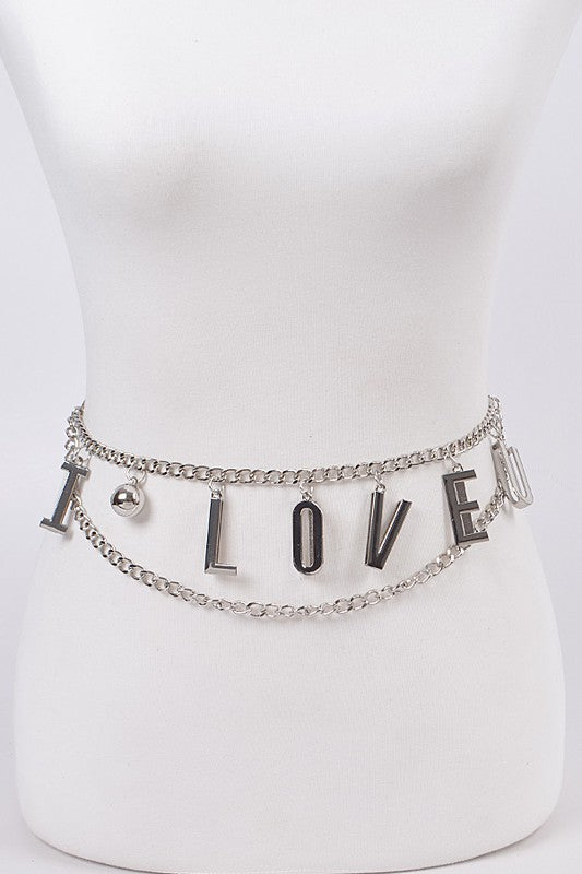 11020-Love Chain Belt