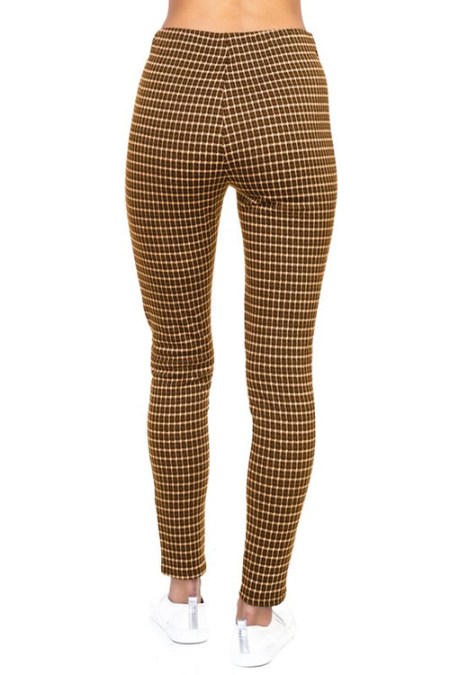 122618- Checker Zipper Jegging