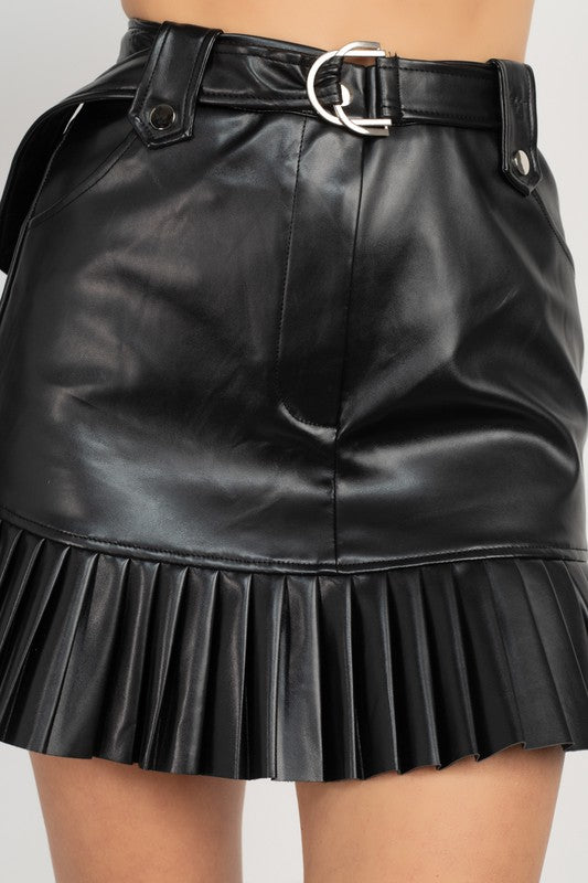 201-Leather Biker Skirt