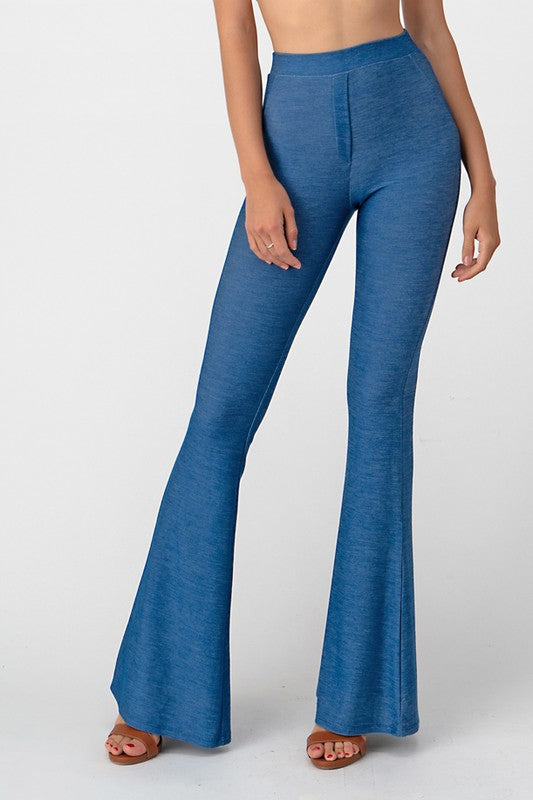 10919- Knit Denim Bell Bottoms
