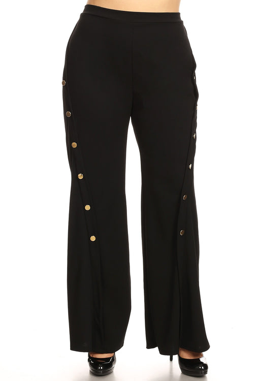 13019- Curvy Black Trouser