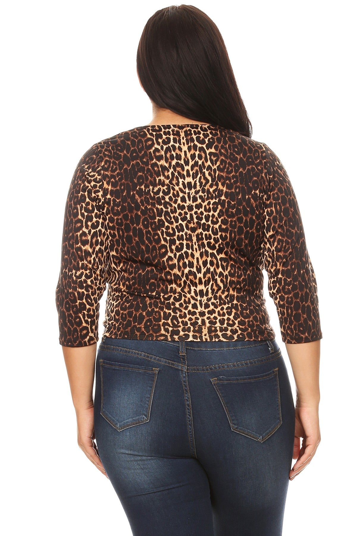 12319-Cheetah Twist Top