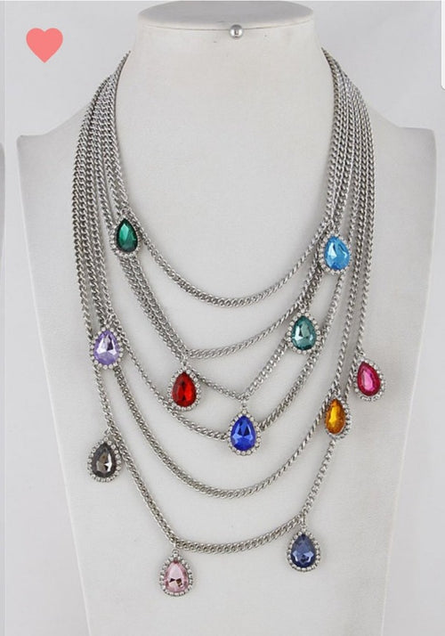 Jewels of Love Silver- Statement Necklace