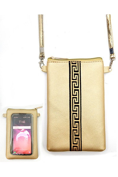 Tribe Crossbody Phone Bag- Golden