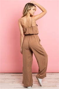 2121-Khaki Jumpsuit w/ pocket