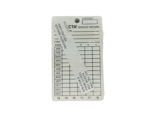 Protecta Bait Station Service Record Cards (100 pack)
