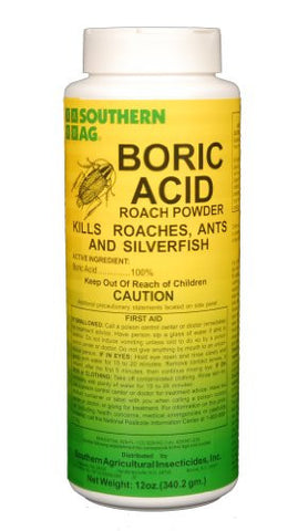 Southern Ag Boric Acid Roach Powder- 12oz