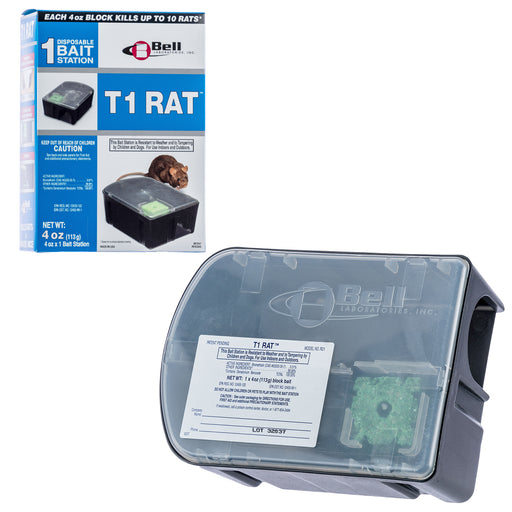 T1 Rat Disposable Rat Bait Station by Bell Labs
