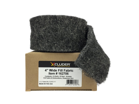 Xcluder Rodent Control Stainless-Steel Wool Fill Fabric (4 in x 10 ft roll)