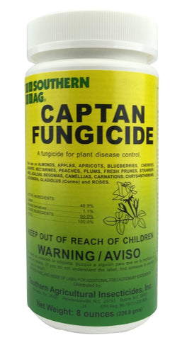 Captan 50%  WP Fungicide - for Fruits, Vegetables, Roses, Flowers, & Plants