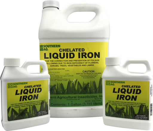 Chelated Liquid Iron - Lawn, Shrub, Vegetable, Fruit, Rose, Tree, etc Fertilizer