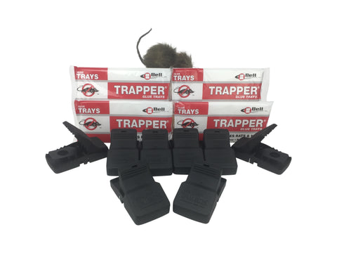 Trapper Rat Kit - Contains T-Rex Snap Traps and Trapper Glue Boards
