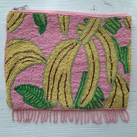 Pailletten Clutch Banane