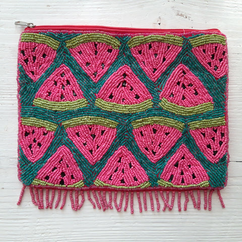 Pailletten Clutch Melon