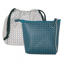Pouch / Clutch XS in blue-green