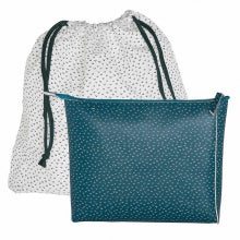 Pouch /  Clutch L in blue-green
