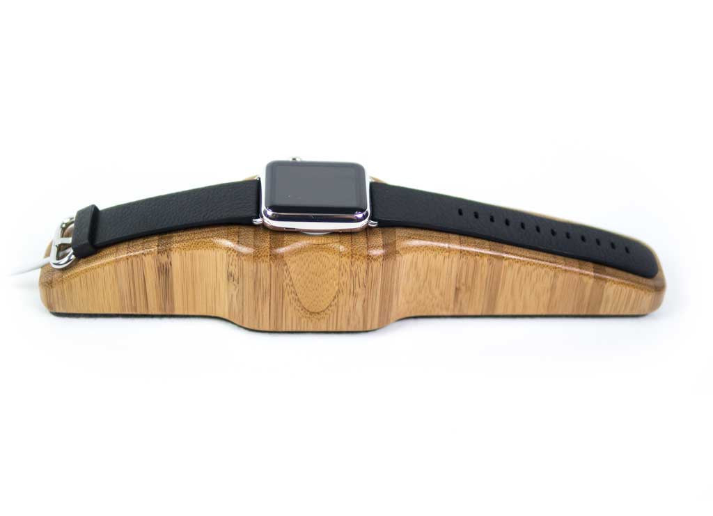 Arc Solo Apple Watch Charging Stand in Bamboo Hero