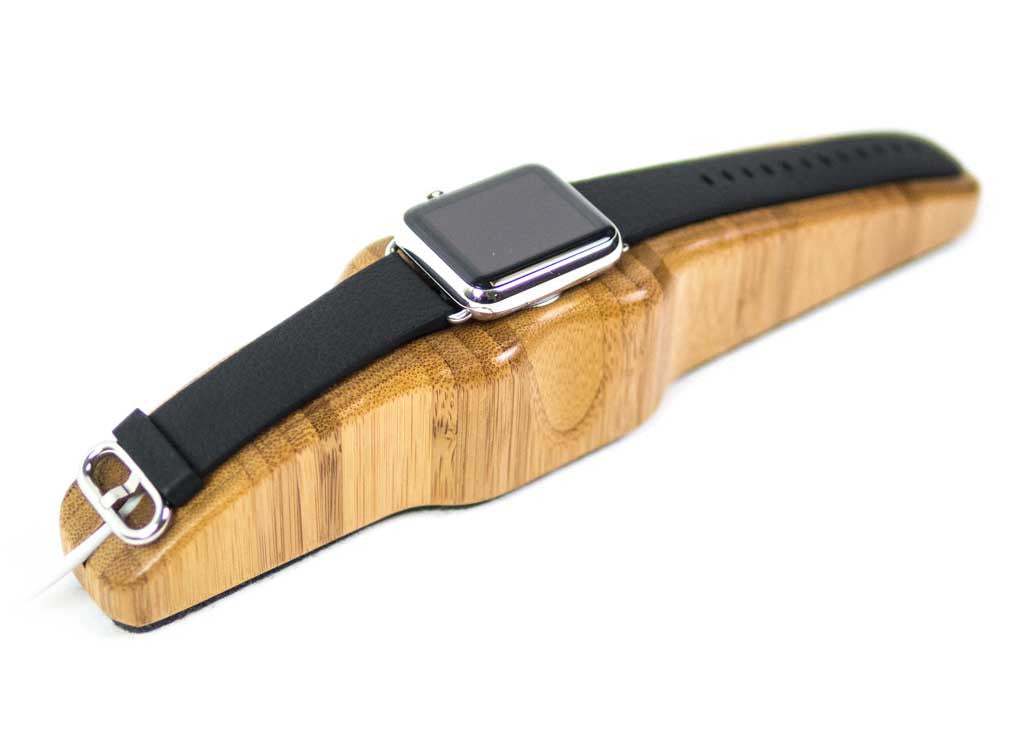 Arc Solo Apple Watch Charging Stand in Bamboo
