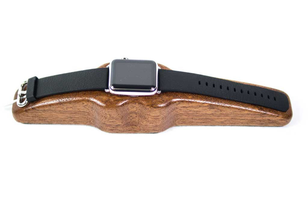Apple Watch Charging Stand Arc Solo in Mahogany front top