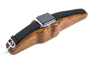 Apple Watch Charging Stand Arc Solo in Mahogany with watch