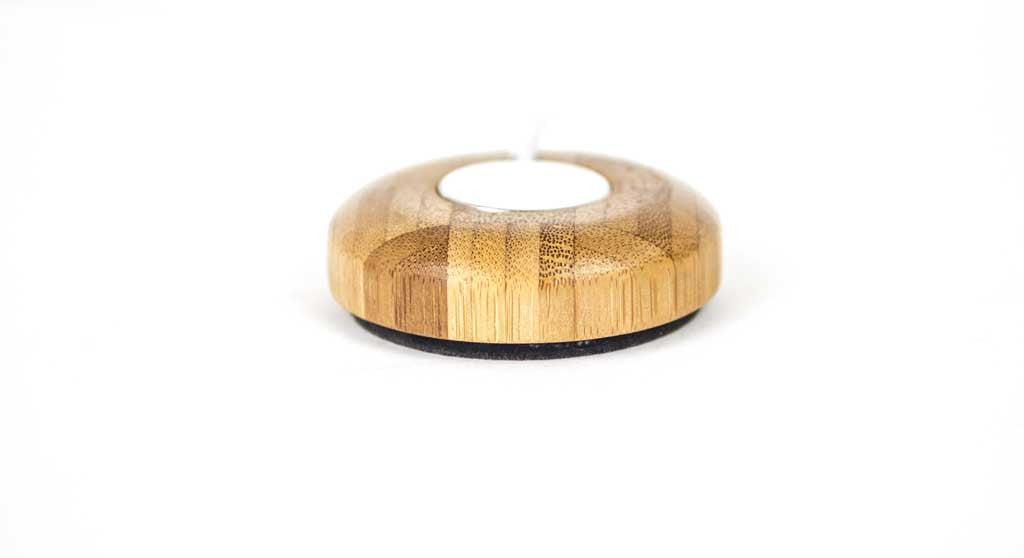 Bamboo Charging Puck for Apple Watch Front