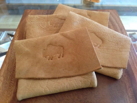 Custom Buffalo Leather Pouch