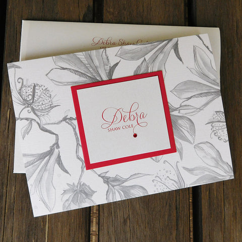 Layered Trellis Personalized Stationery