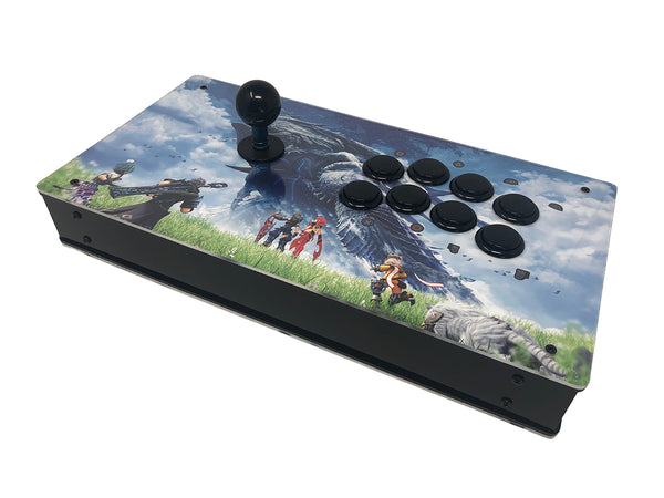 Eternal Rival - High Tier Case with Artwork - Fightstick Enclosure Korean Levers, Japanese Levers, Snap-in or Screw On