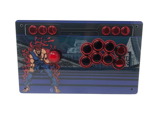 Eternal Rival - S Rank Case with Art - Fightstick Enclosure Korean Levers, Japanese Levers, Snap-in or Screw On