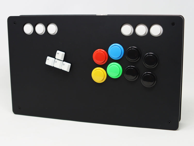 Eternal Rival - S Rank Case - Keyboard Fightstick Enclosure Cherry MX Switches, Snap-in or Screw On Buttons