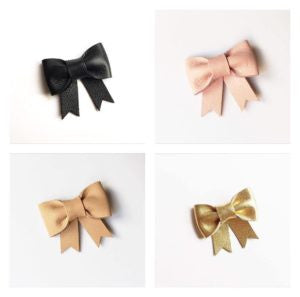 "Mina Loves Bows ""Margot"" Leather Bow"