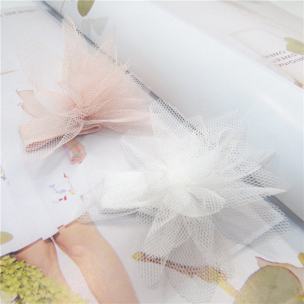 Tulle Flower Clips