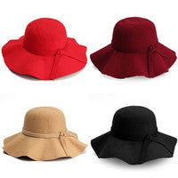 Oversized Floppy Wool Hats