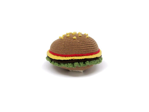 Baby Organic Rattle - Hamburger