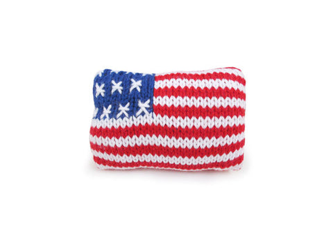 Baby Organic Rattle - American Flag