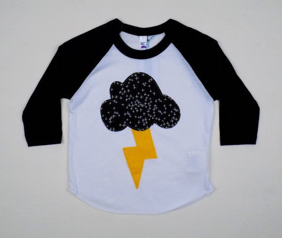 Rain Cloud Baseball Tee