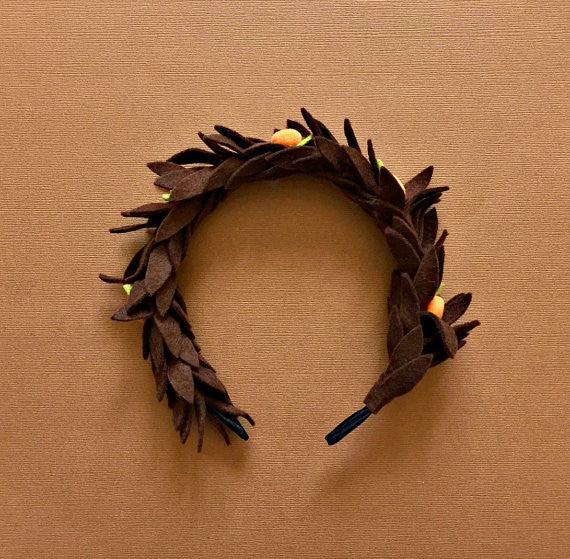 Felt Flower Nutmeg Headband Crown Hair Halo