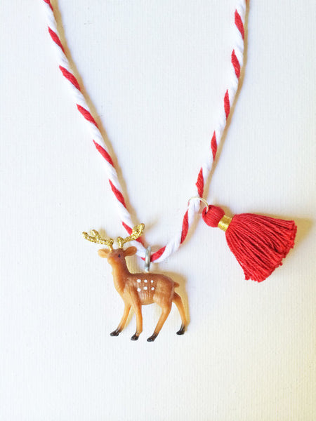 The Trendy Tot Deer Tassel Necklace