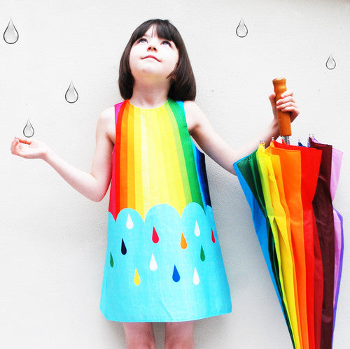 Rainbow Spectrum Print Dress