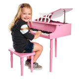Pink 30 Key Toy Piano with Bench - 1