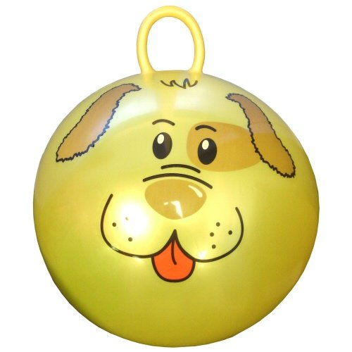 "18"" Jumping Ball with Round Handle and Dog Face"
