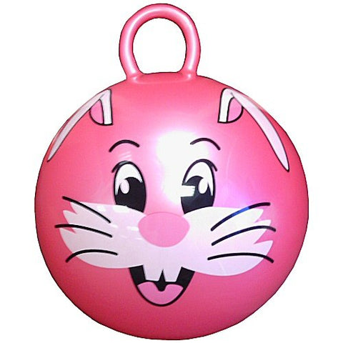 "24"" Jumping Ball with Round Handle and Rabbit Face"