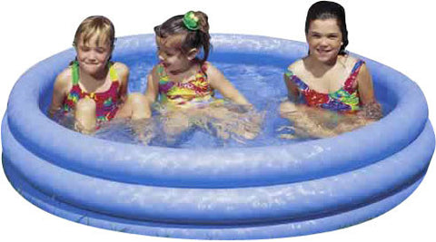 "58"" Crystal Blue Inflatable Kiddie Pool"