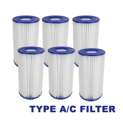 6 Pack of Summer Waves A/C Filter Cartridge