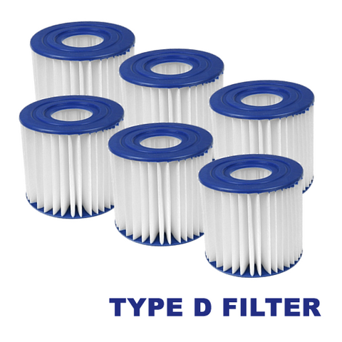 6 Pack of Summer Waves D Filter Cartridge