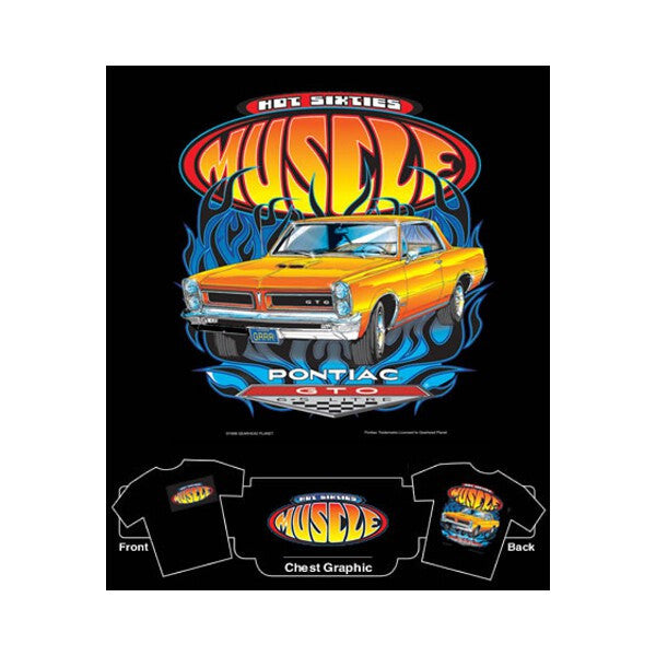Hot 60's Muscle Pontiac GTO T-Shirt