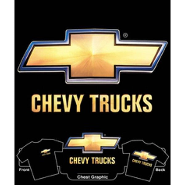 Chevy Truck 3D Bowtie on Black T-Shirt
