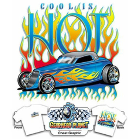Cool is Hot Ford on White T-Shirt