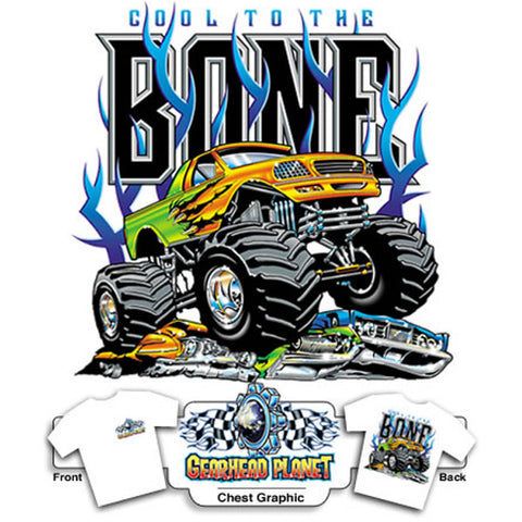 Ford Cool to the Bone on White T-Shirt