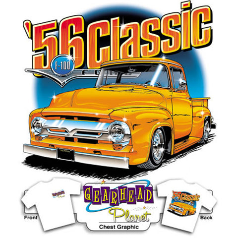 56 Ford Classic on White T-Shirt